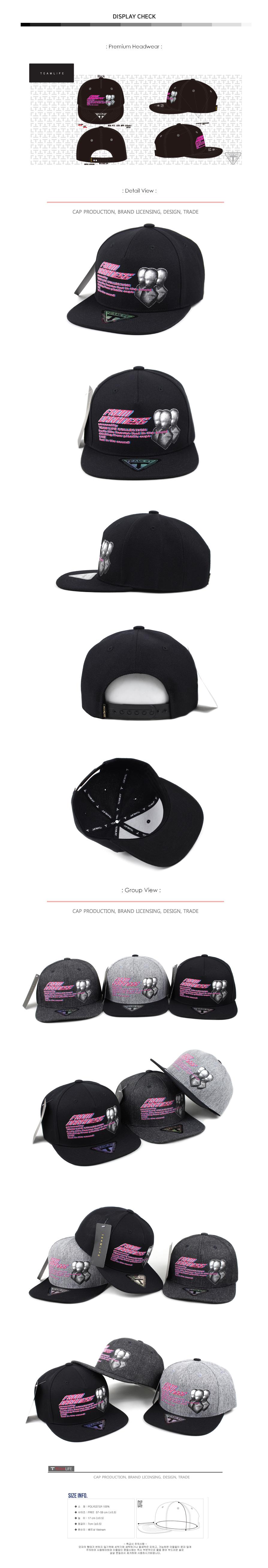 [팀라이프]3FO 스냅백 블랙